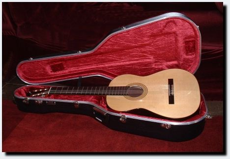 Hauser model guitar in Hiscox case
