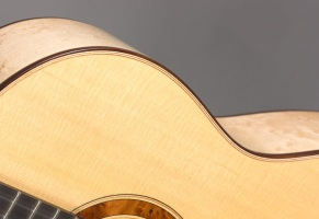 Birds eye maple guitar
